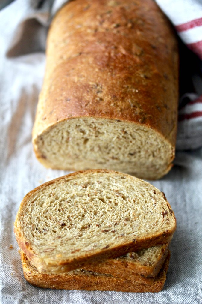English Granary-Style Sandwich Bread