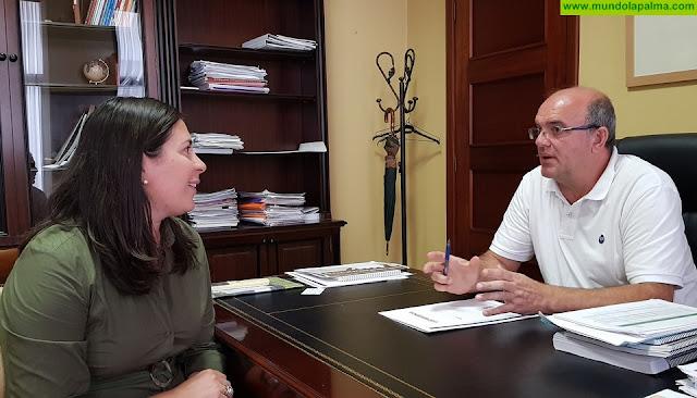 El Cabildo y el Ayuntamiento de Mazo trabajarán conjuntamente para mejorar las infraestructuras municipales