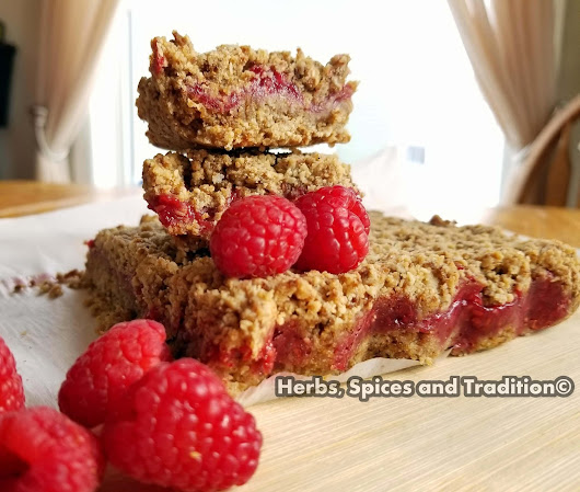RASPBERRY JAM FILLED BREAKFAST SQUARES