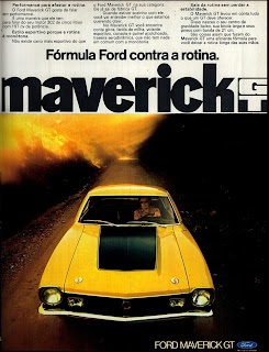 propaganda Ford Maverick GT - 1973, 1973. brazilian advertising cars in the 70. os anos 70. história da década de 70; Brazil in the 70s. propaganda carros anos 70. Oswaldo Hernandez.