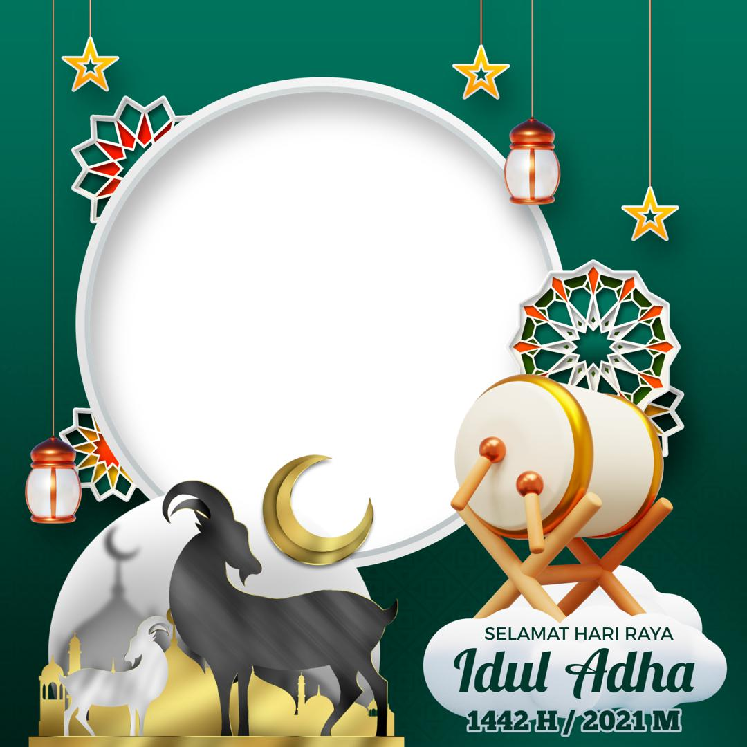 Link Desain Frame Bingkai Twibbon Selamat Hari Raya Idul Adha 2021