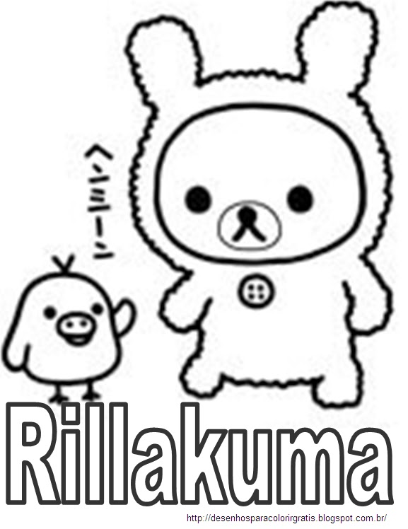 Rillakuma para colorir colorir desenhos para colorir for Rilakkuma coloring pages