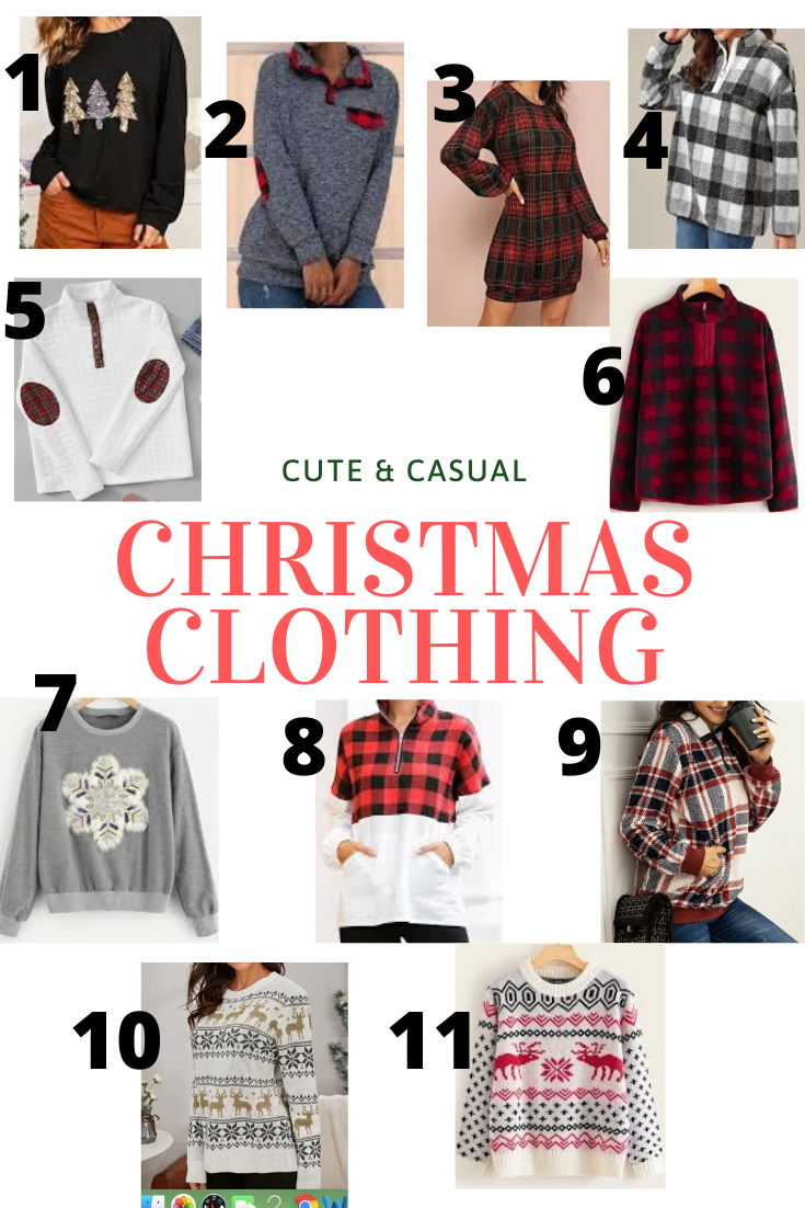Cute & Casual Christmas Clothing