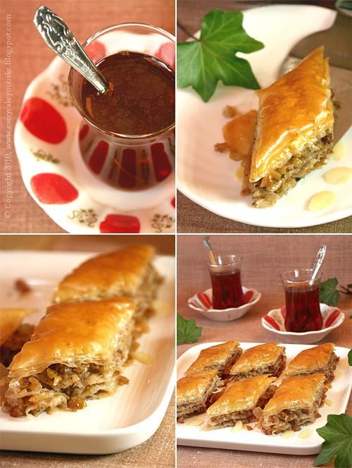baklava arabski deser z ciasta filo z orzechami i syropem
