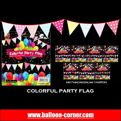 Colorful Party Flag / Bunting Flag Warna-Warni (7 Motif)