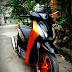 Sơn phối màu xe Honda SH màu cam đen cực đẹp