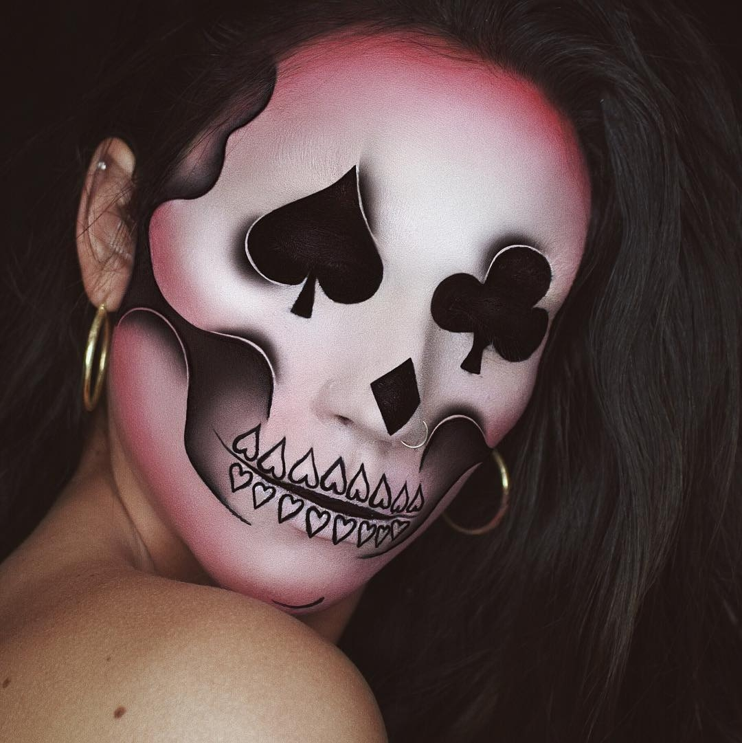 10-Cards-Skull-Lunafortun-Body-Painting-with-Makeup-Effects-www-designstack-co