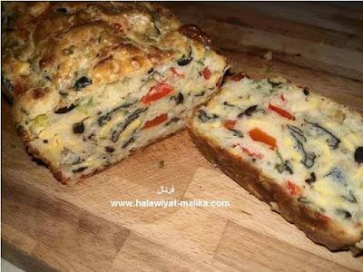 كيكة مالحة بالجبن والخضر