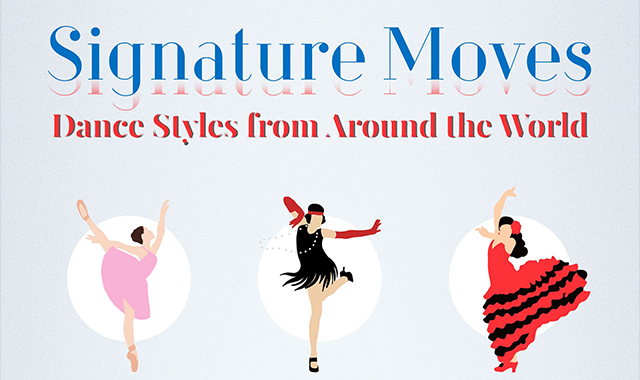 Signature moves worldwide dance styles #infographic