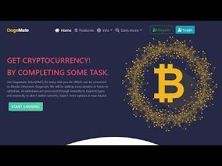 Dogemate, Situs Penghasil Bitcoin Gratis Dengan Pembayaran Instan