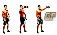 cara memperbesar otot lengan dengan front raise