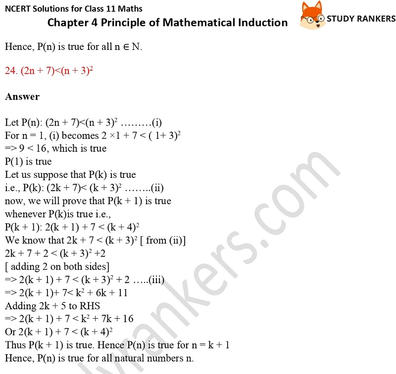 NCERT Solutions for Class 11 Maths Chapter 4 Principle of Mathematical Induction 13