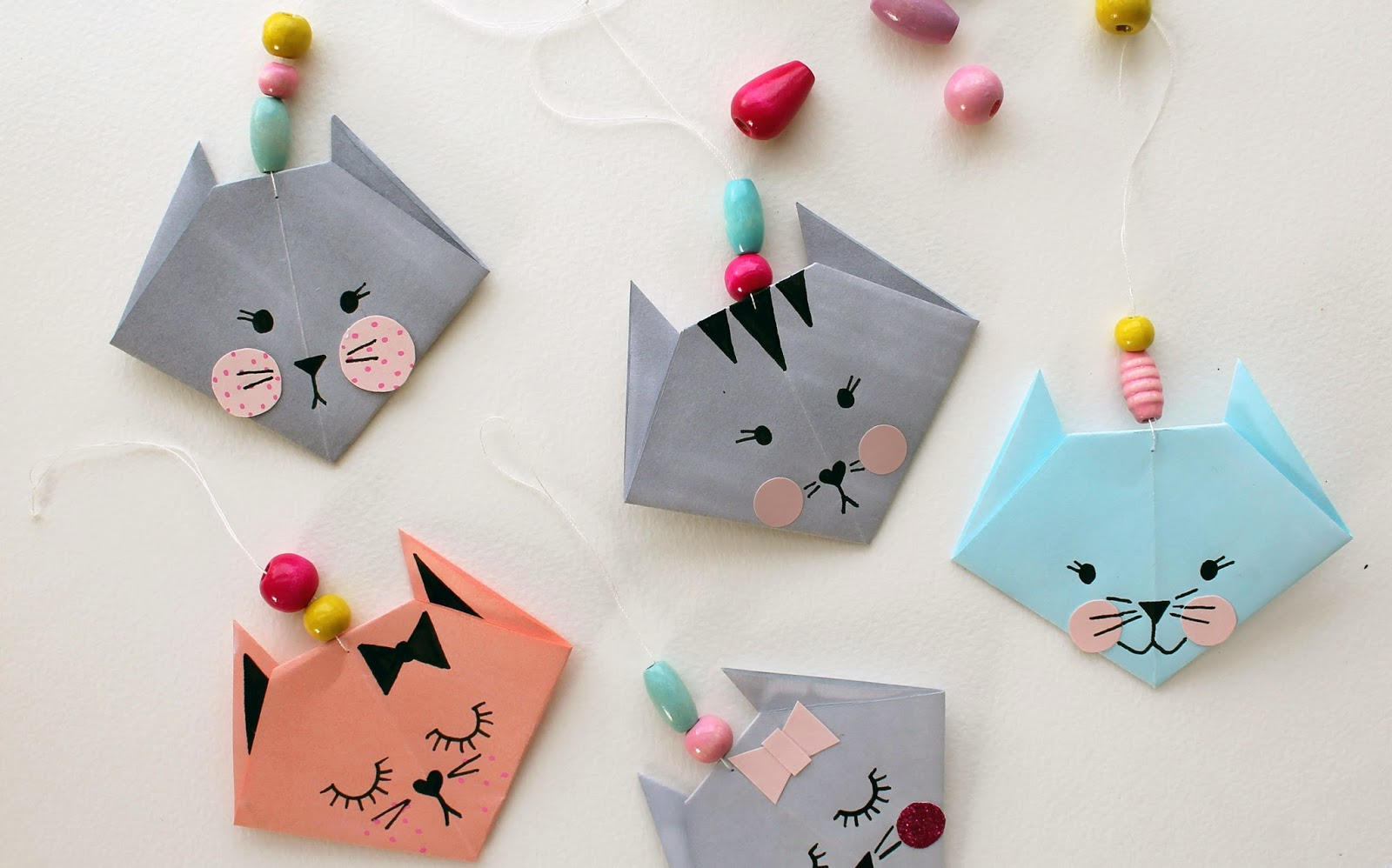 How To Make Origami Cat Bookmark