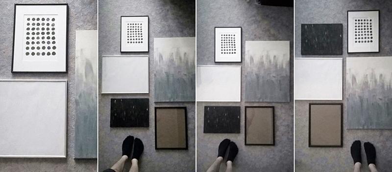 Bilderwand arrangieren Boden Kombinationen Tipps DIY Tutorial