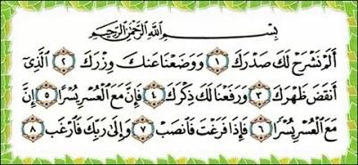Kelebihan Surah Al Insyirah