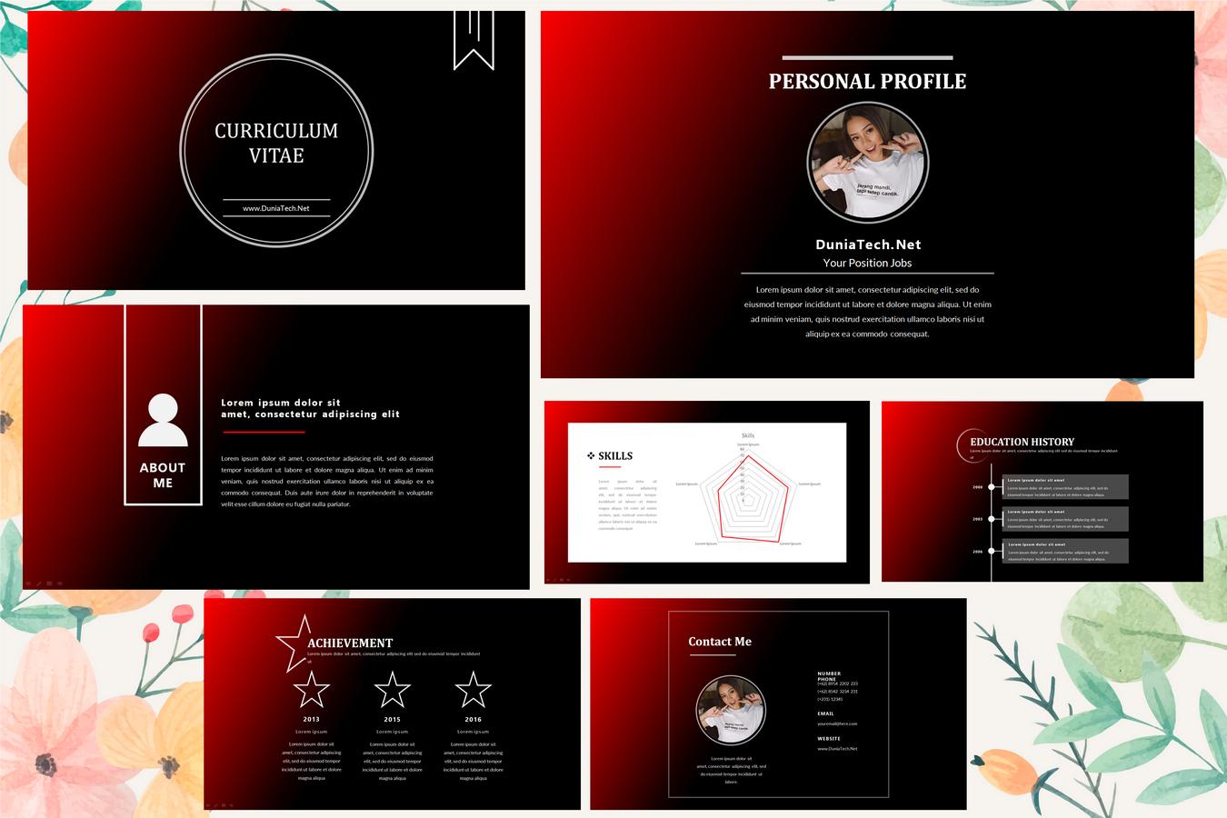 Download Template Cv Elegant Powerpoint Ppt Gratis Dan Menarik Duniatech Net