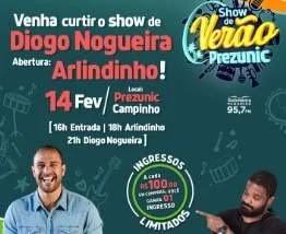 Cadastrar promoção Prezunic show de verão 2020 - Show Diogo Nogueira