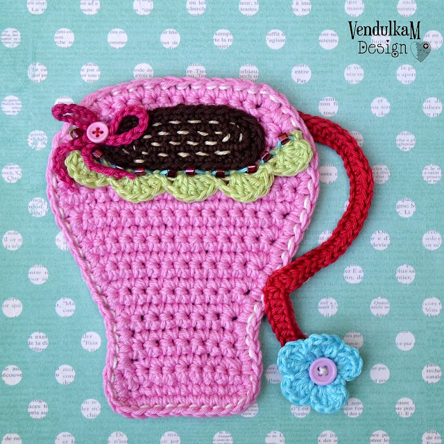 Crochet pattern - Coffee mug coaster by Vendula Maderska