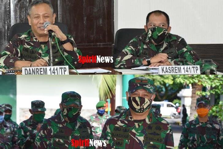 Semarak Penjemputan Komandan Korem 141/Tp Brigjen TNI Djashar Djamil, S.E. M.M. di Makorem 141/Tp.