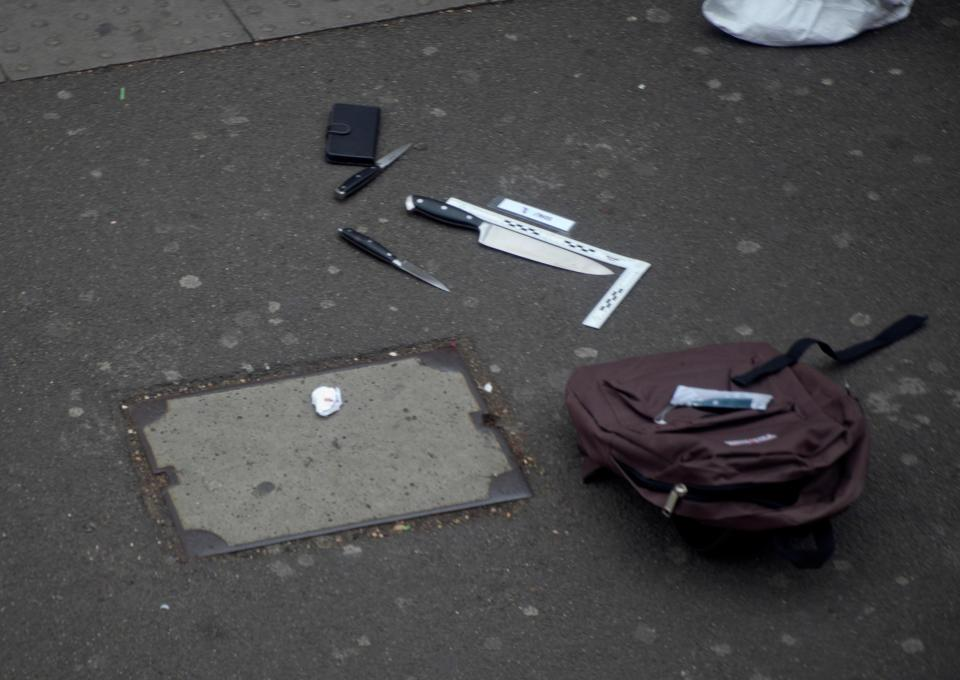 Terror suspect arrested in Whitehall with 'bag of knives' charged with possessing explosives in Afghanistan five years ago
