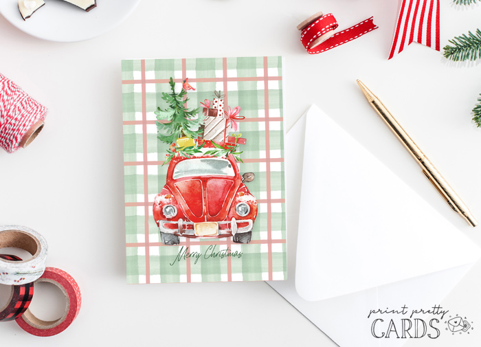 Christmas VW Bug Card