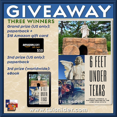 Six Feet Under Texas tour giveaway graphic. Prizes to be awarded precede this image in the post text.