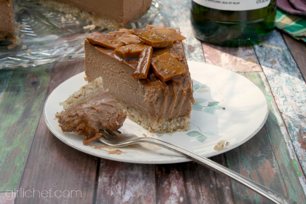 Chocolate Cheesecake w/ Whisky Toffee Shards