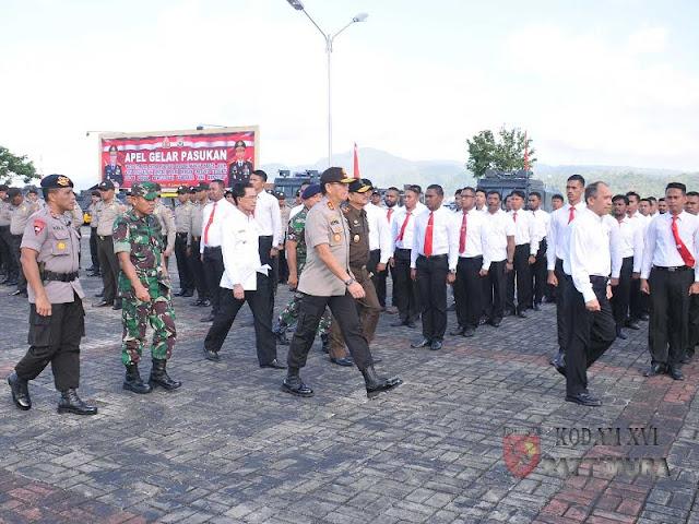 Apel Gelar Pasukan Operasi Mantap Brata 2018 di Provinsi Maluku