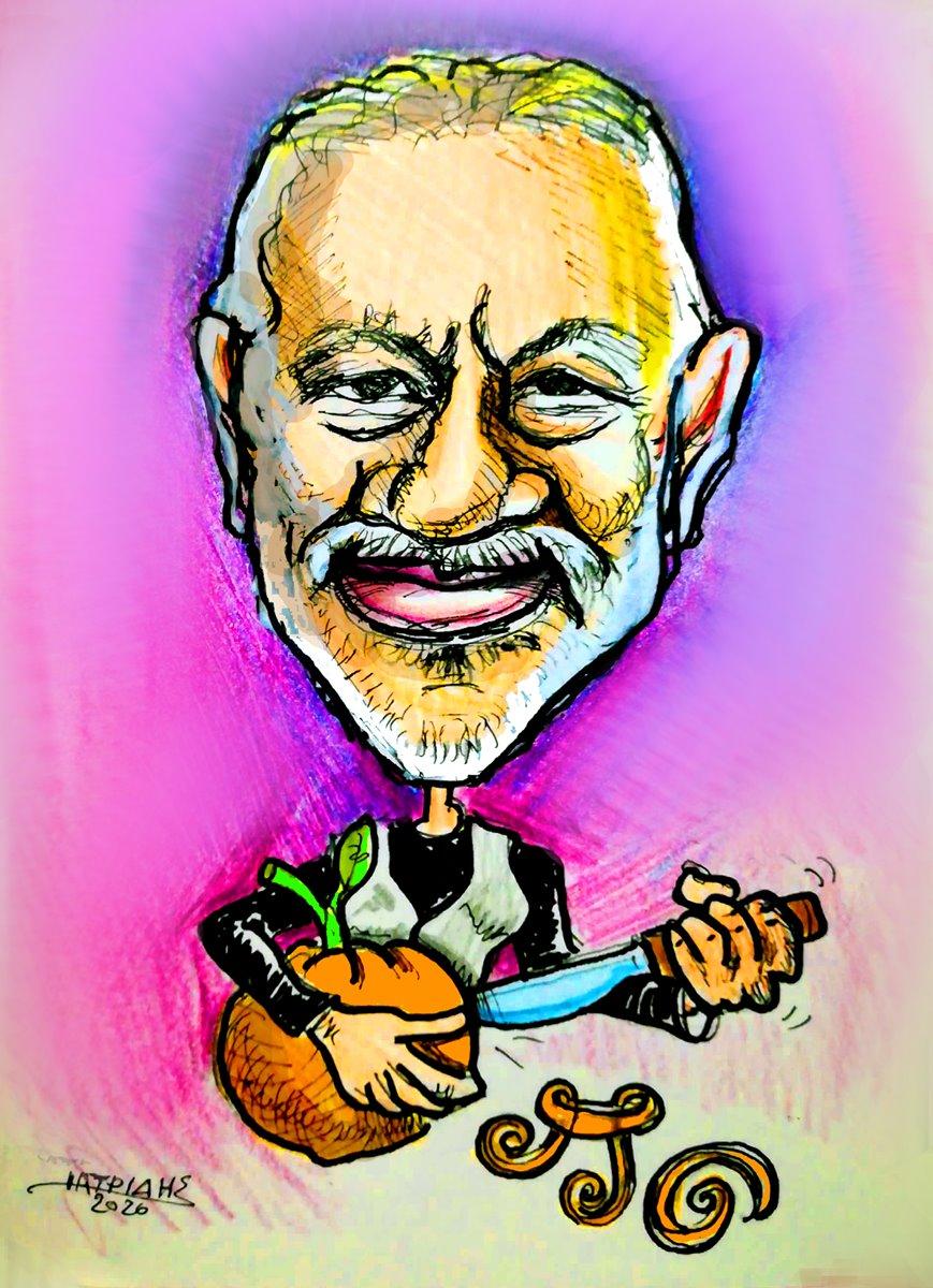 nikos portokaloglou genethlia mousiko kouti ert karikatoura iatridis