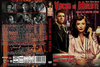 Caratula dvd: Voces de muerte (1948) (AKA Perdón, número equivocado)