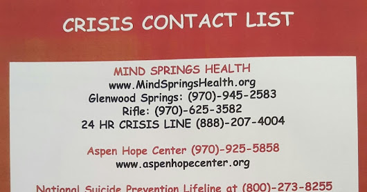 Crisis Contact List