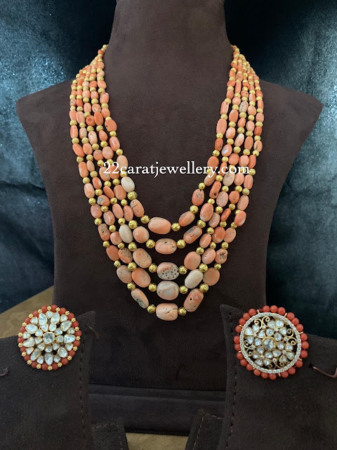 Coral Beads Long Chain