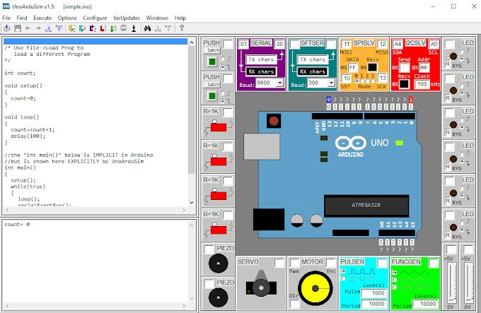 Προσομοιωτής για το Arduino uno - UnoArduSim