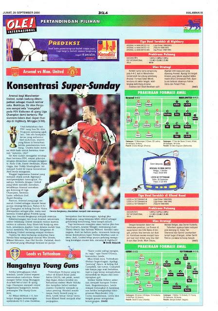 BIG MATCH 2000 ARSENAL VS MAN. UNITED KONSENTRASI SUPER-SUNDAY