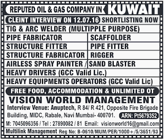 oil & gas company jobs in kuwait