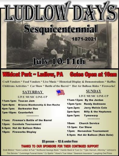 7-10/11 Ludlow Days Sesquicentennial Celebration