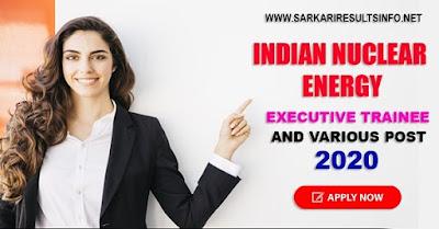 sarkari-results-NPCIL-Executive Trainee and various post Online