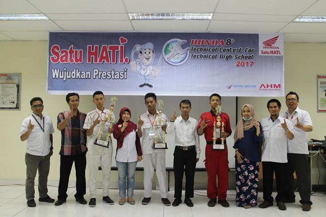 SMK Utama Bakti Palembang Menangi Kontes Teknik Astra Motor Sumsel