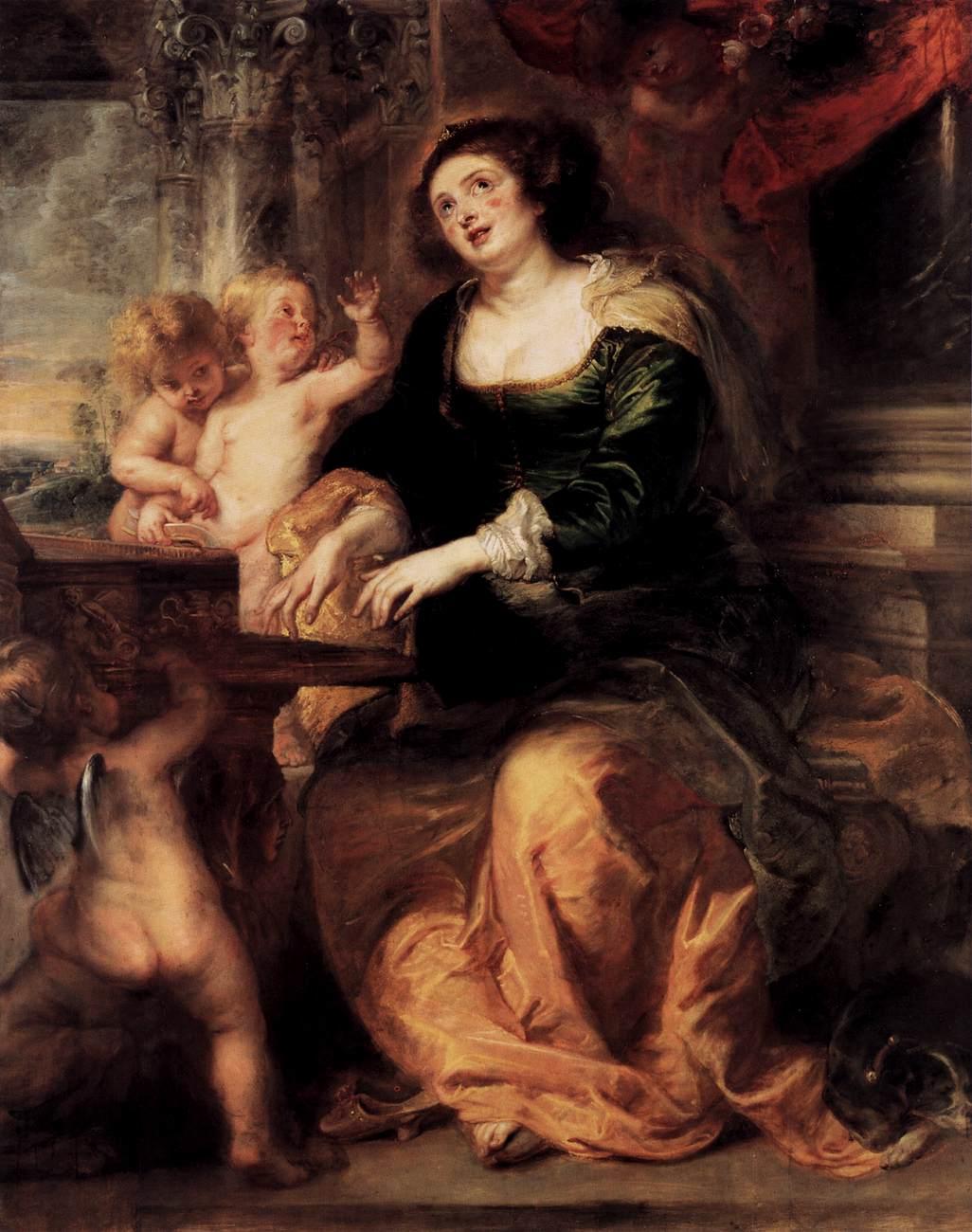 Peter Paul Rubens Saint Cecilia   Gemaldegalerie  erlino