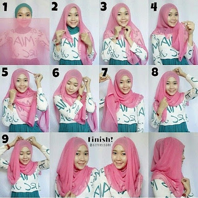 Tutorial Hijab Modern Modis