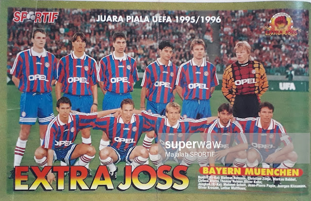 BAYERN MUENCHEN UEFA CUP WINNER 1995
