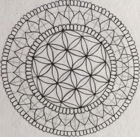 Mandala flower design for beginners
