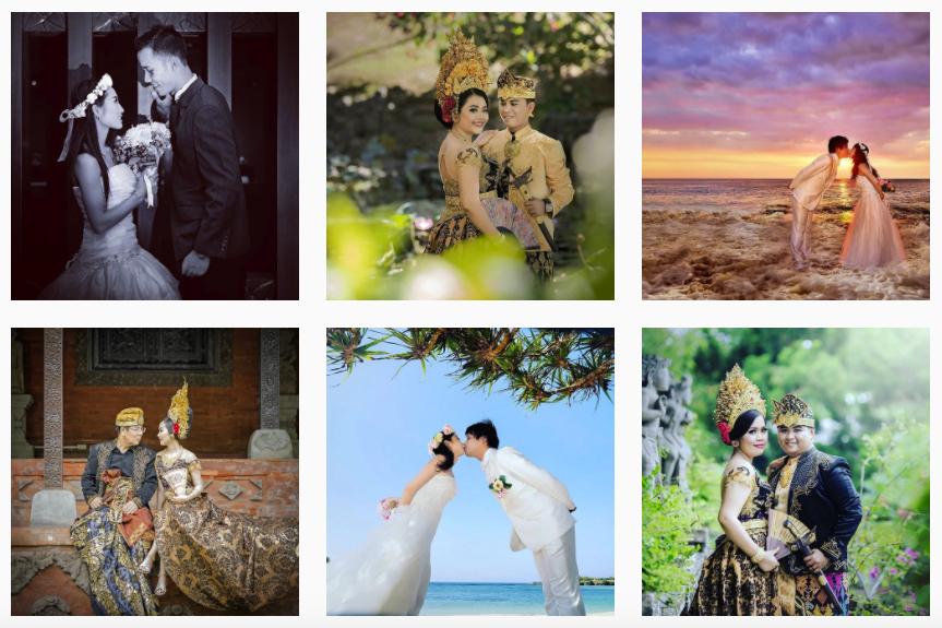 Paket photo pre wedding murah di bali rias make up hairdo gaun bridal