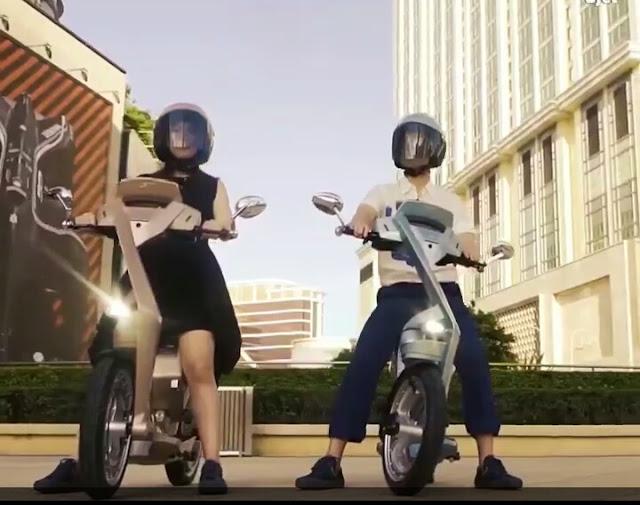 skuter listrik motor yang dapat di lipat