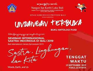 Undangan Terbuka: Antologi Puisi Seminar Internasional Sastra Indonesia di Bali