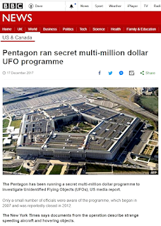 BBC Report on the Secret Pentagon UFO Study 2017