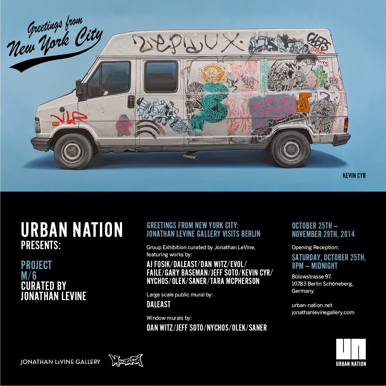 Later this month, our friends at Urban Nation will be opening the Project M/6 which is curated by Jonathan Levine.