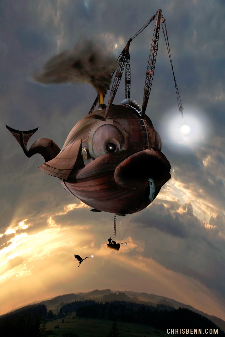 10-Angler-Fish-Chris-Bennett-Animal-Photographs-of-Surreal-Art-www-designstack-co