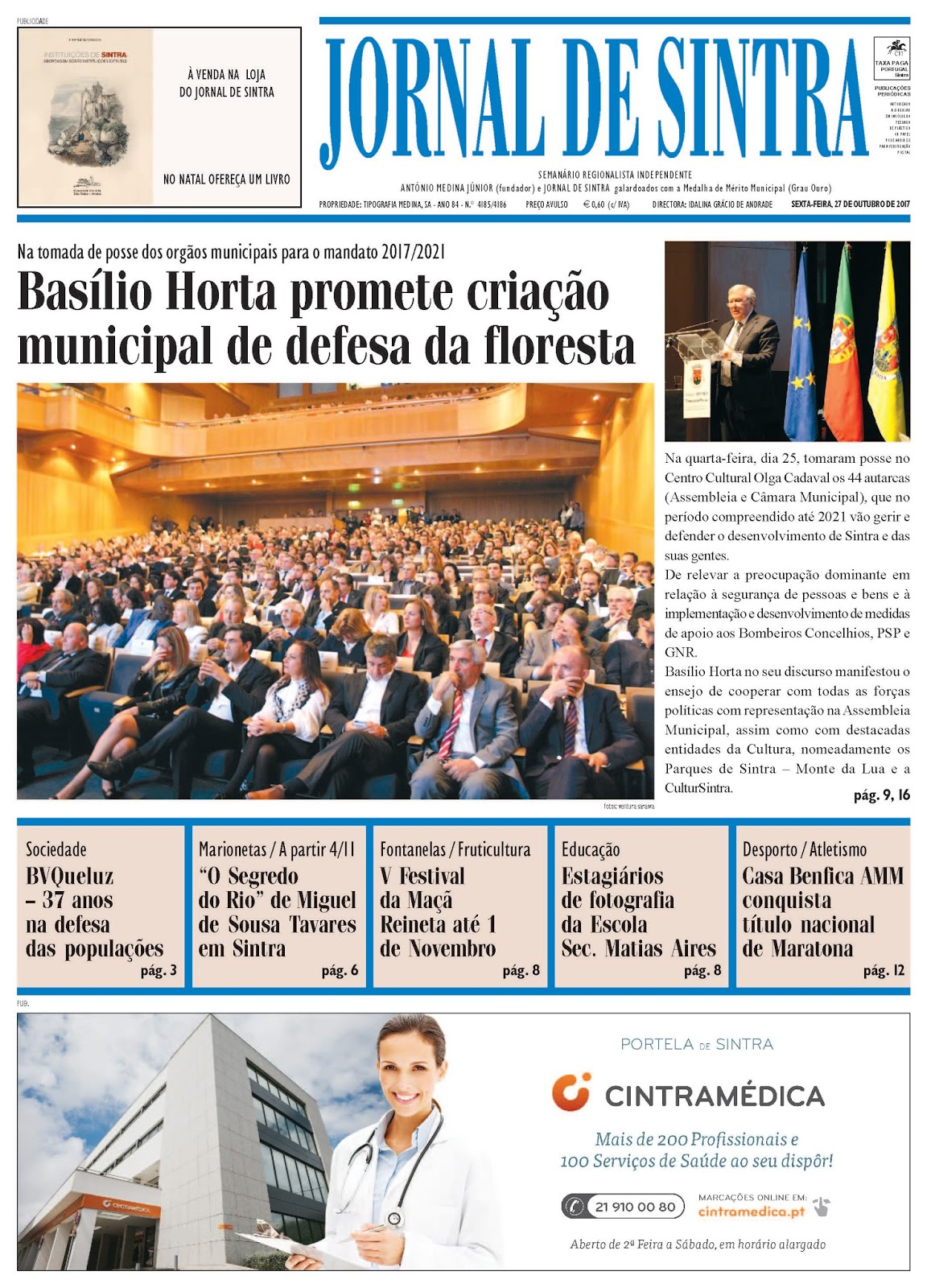 Capa da edição de 27-10-2017