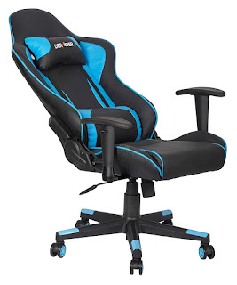 MBTC Deraoer 90-180 Degree Large Gaming Chair in Black & Blue